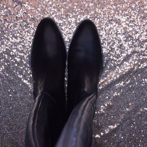 Dkny Shoes - DKNY Black Leather Knee High Boots